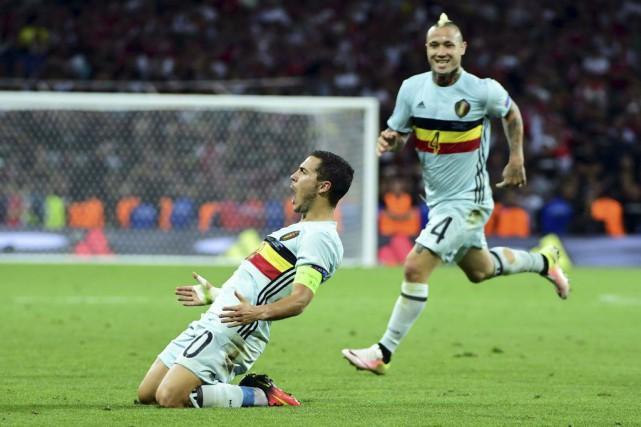 Eden Hazard s'est démarqué dans la victoire facile... (Emmanuel Dunand, AFP)