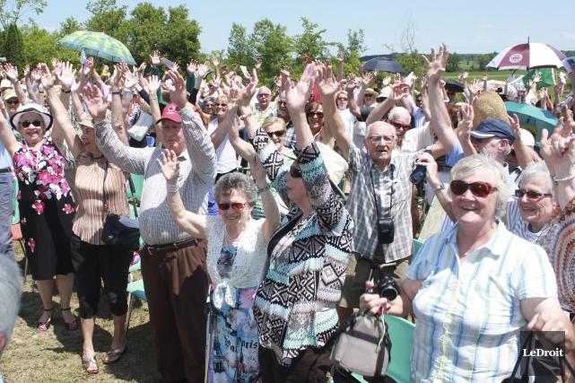 Les citoyens de Green Valley ont célébré un... (Martin Brunette, LeDroit)