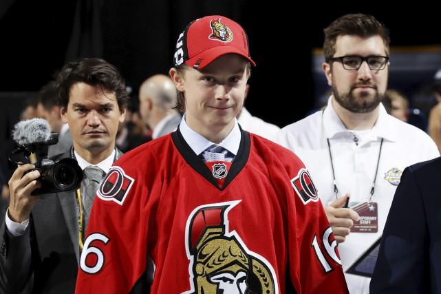 Les Sénateurs d'Ottawa ont sélectionné Jonathan Dahlen avec... (AFP)