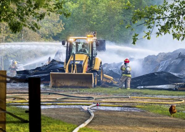L'incendie du Domaine des Grès a ravagé la... (Andréanne Lemire)