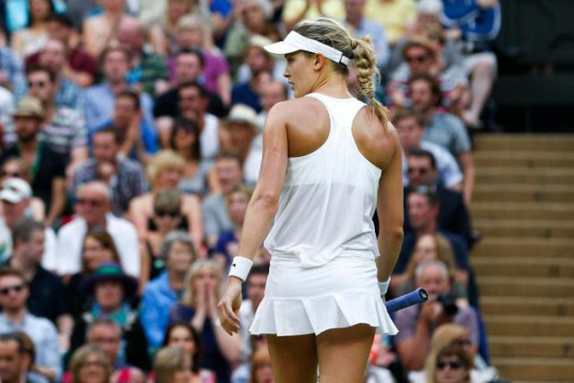 Finaliste en 2014, Eugenie Bouchard a dû plier... (Photo Pavel Golovkin, Archives Associated Press)