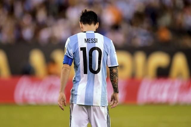 L'Argentin Lionel Messi.... (AFP, Alfredo Estrella)