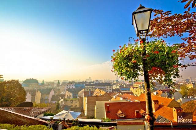 Une vue de Zagreb depuis le belvédère.... (PHOTO ARCHIVES LA PRESSE)