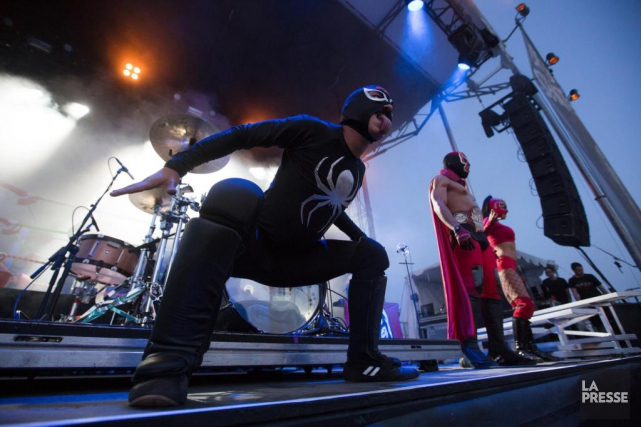 Puscifer en spectacle au Rockfest.... (PHOTO NINON PEDNAULT, LA PRESSE)