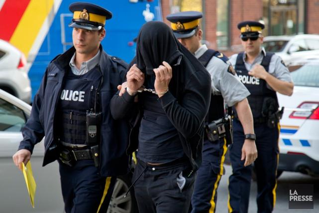 La GRC a arrêté huit individus dans le... (PHOTO DAVID BOILY, ARCHIVES LA PRESSE)