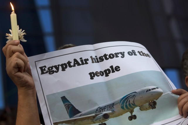 L'avion d'EgyptAir a plongé dans la Méditerranée le 19 mai,... (photo Archives AP)