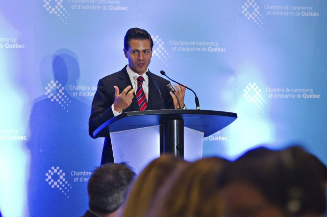 Le déjeuner-causerie avec le président mexicain Enrique Peña... (La Presse Canadienne, Clément Allard)