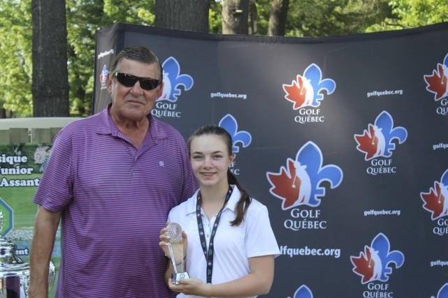 Mathilde Denicourt, de Saint-Césaire, a remporté la Classique... (fournie par Golf Québec)