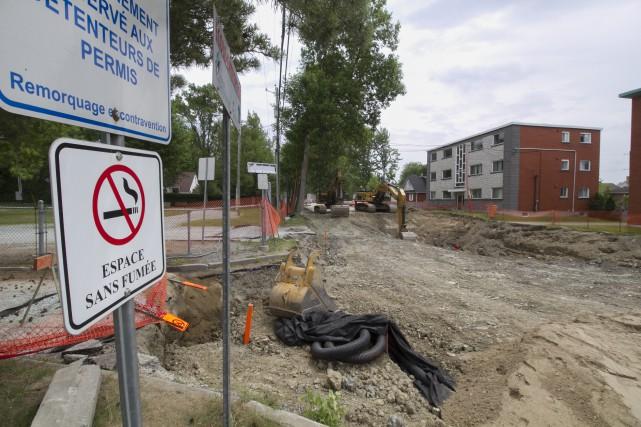 Le chantier de la rue Chalifoux a débuté.... (Spectre Média, René Marquis)