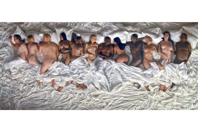 Grâce à des statues de cire, Kanye West... (Capture d'écran tirée de Tidal)