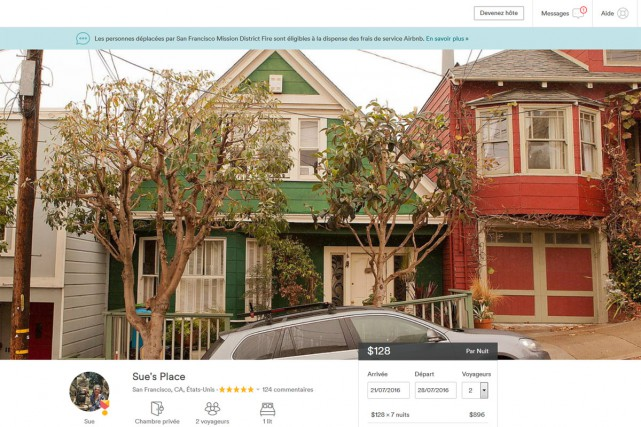 Un appartement de San Francisco offert en location... (CAPTURE D'ÉCRAN)
