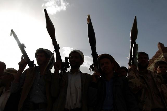 Desrebelles chiites Houthis à Sanaa, le 20 juin.... (PHOTO  MOHAMMED HUWAIS, ARCHIVES AFP)