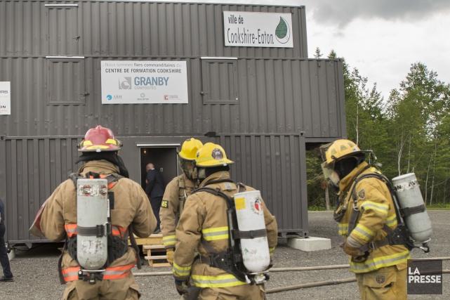 Un site situé non loin de l'aéroport de Sherbrooke servira de lieu de formation... (Spectre Média, Marie-Lou Béland)