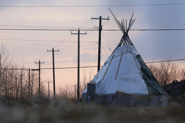 Un tipi sur le territoire de la nation... (PHOTO Chris Wattie, ARCHIVES REUTERS)