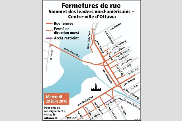 De nombreuses fermetures de rues sont prévues mercredi... (Courtoisie, Ville d'Ottawa)