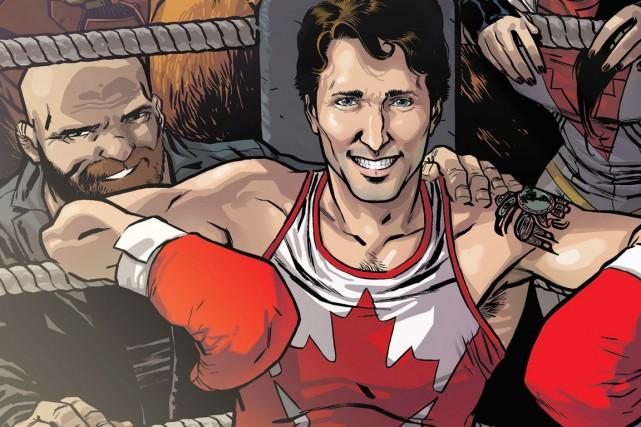 Le premier ministre y est dessiné tout souriant,... (PHOTO PC)