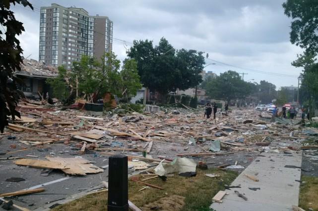 Les causes de l'explosion ne sont pas encore... (PHOTO PC)