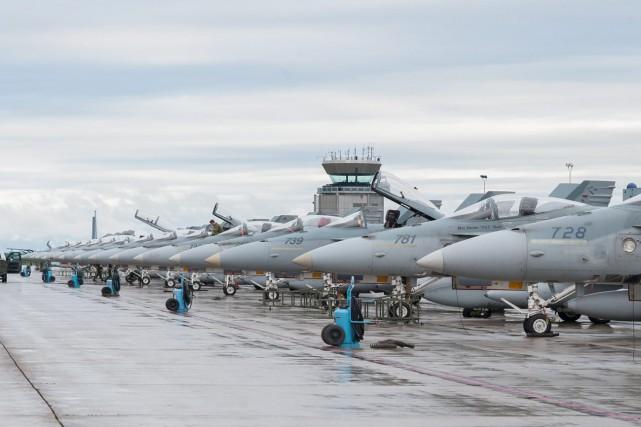 Huit chasseurs canadiens participeront à un vaste exercice militaire dans le... (Photo Matc S.Picard, Imagerie BFC Bagotville)