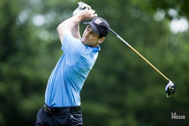 Vincent Lecavalier jouait au golf à l'Île-Bizard, mardi,... (Olivier Jean, La Presse)