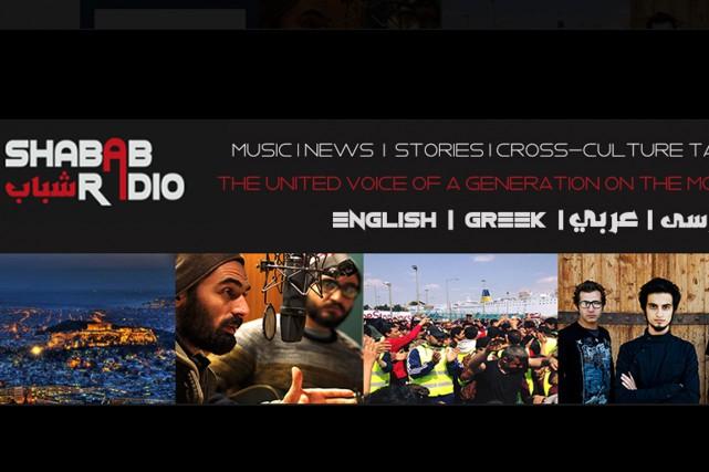 Des migrants et réfugiés ont créé à Athènes Shabab Radio, une radio sur... (Image tirée de la page Facebook)
