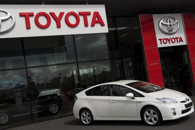 Le géant de l'automobile japonais Toyota a annoncé mercredi le rappel de 3,37... (Photo Marten van Dijl, AFP)