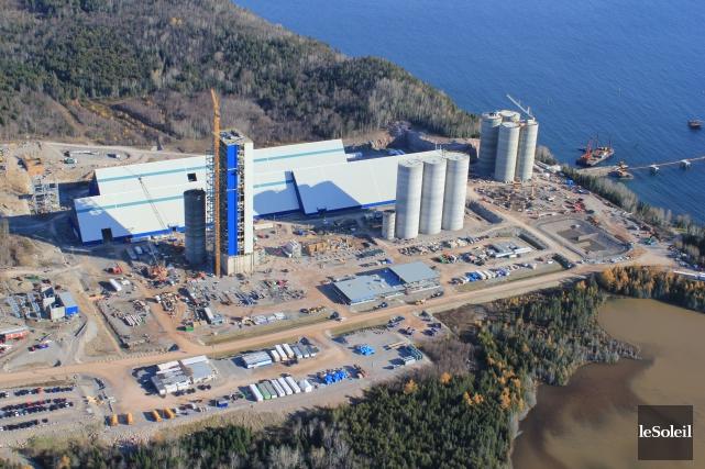 Le mégaprojet de Ciment McInnis à Port-Daniel fait... (Photothèque Le Soleil)