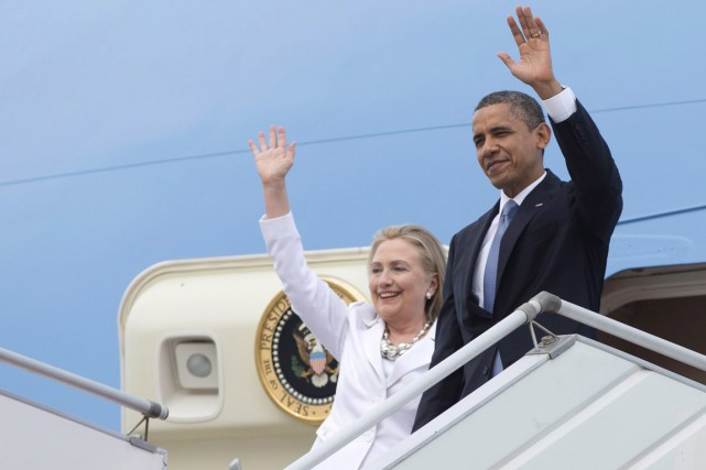 Le président Obama et Hillary Clinton - alors... (PHOTO  Carolyn Kaster, ARCHIVES PC/AP)