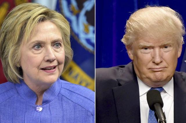Hillary Clinton et Donald Trumpsont au coude-à-coude dans... (PHOTOS AFP)
