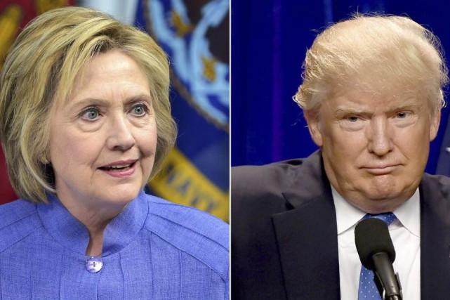Hillary Clinton et Donald Trump.... (PHOTOS AFP)