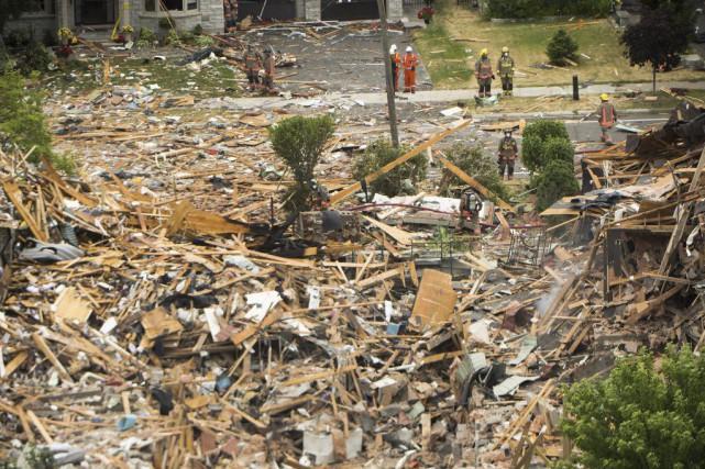 La cause de la déflagrationest toujours indéterminée.... (PHOTO NATHAN DENETTE, LA PRESSE CANADIENNE)