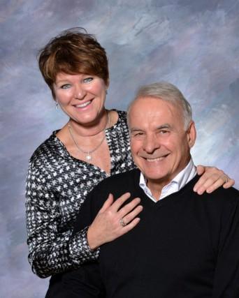 Alain Bouchard et Sandra Chartrand....