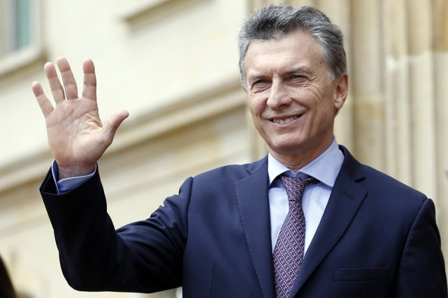 Le président argentin Mauricio Macri... (PHOTO Fernando Vergara, ARCHIVES AP)
