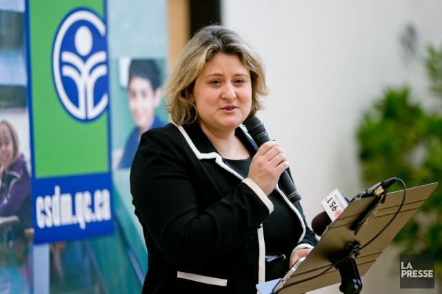 La présidente de la CSDM, Catherine Harel-Bourdon... (PHOTO DAVID BOILY, ARCHIVES LA PRESSE)