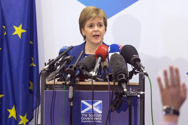 La première ministre écossaise, Nicola Sturgeon, ne s'inquiète... (AFP, Geoffroy Van der Hasselt)