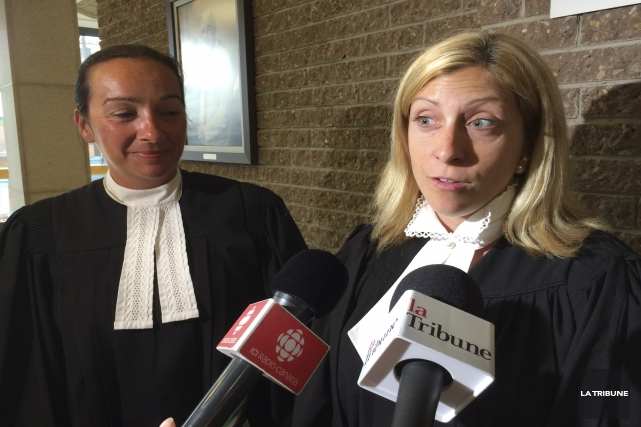 Les procureures aux poursuites criminelles au dossier Me... (La Tribune, René-Charles Quirion)
