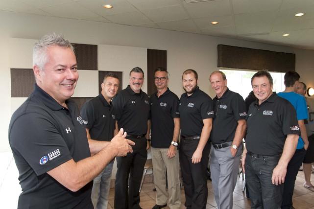 Le nouveau groupe de dirigeants des Barons du... (Sylvain Mayer)