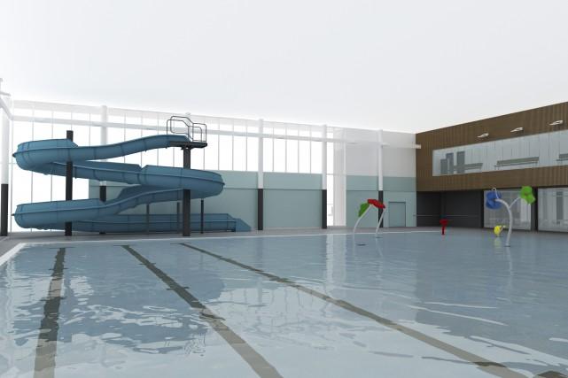 Le bassin récréatif pourra accueillir 350personnes, en plus... (Fournie par la Ville de Granby)