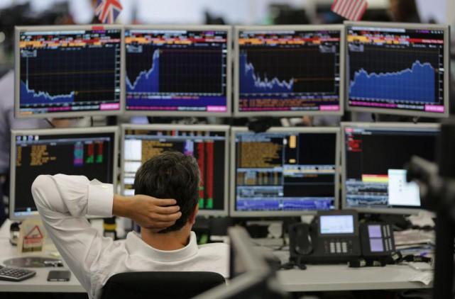 Après la chute des marchés boursiers la semaine... (PhotoDaniel Leal-Olivas, Agence france-Presse)