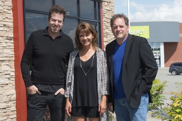 Patrice Robitaille, Isabel Richer et Paul Doucet étaient... (Spectre Média, Julien Chamberland)