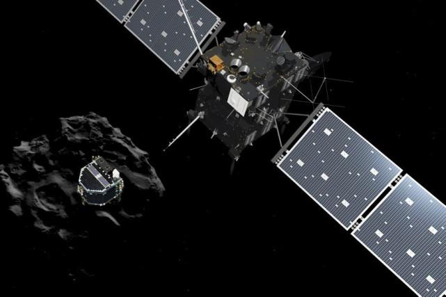 Pour ses derniers moments de vie, Rosetta ne... (PHOTO ARCHIVES AFP)
