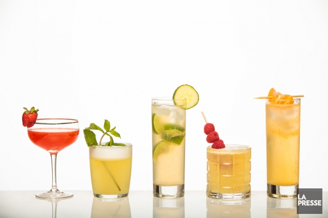 Cinq cocktails faciles à réaliser. Dans l'ordre: Le... (PHOTO HUGO-SÉBASTIEN AUBERT, LA PRESSE)