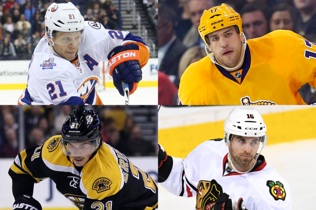 En haut: Kyle Okposo et Milan Lucic. En... (Photos AP et USA Today)
