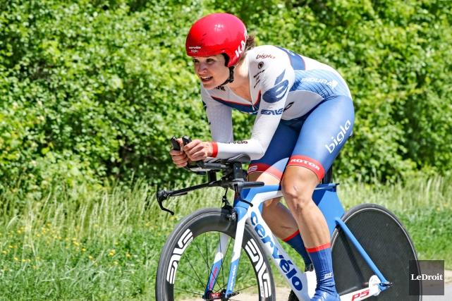 La cycliste Joëlle Numainville a étéécartée de l'équipe... (Photo Patrick Woodbury, Le Droit)