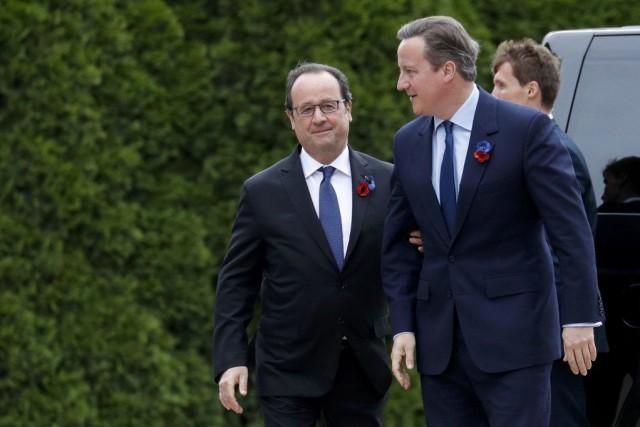 François Hollande présidait vendrediles commémorations du centenaire de... (PHOTO PHILIPPE WOJAZER, REUTERS)