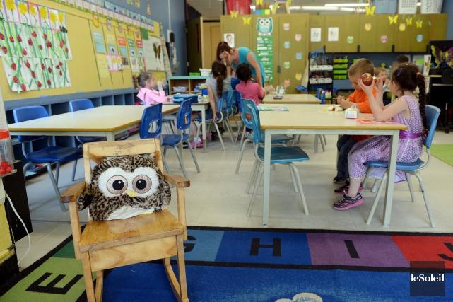 En septembre, 100 nouvelles classes de maternelle 4... (Photothèque Le Soleil, Erick Labbé)