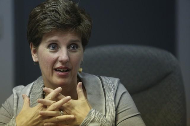 En entrevue à La Tribune, la ministre du... (Spectre Média, René Marquis)