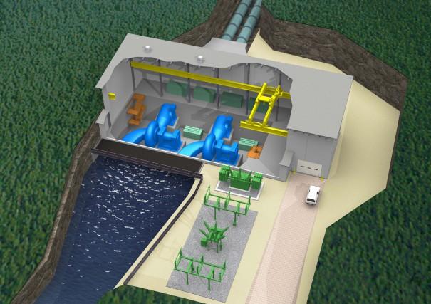 Le projet de mini-centrale hydroélectrique Manouane Sipi en Haute-Mauricie a...