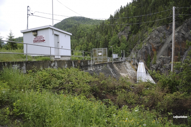 Le barrage d'Hydro-Morin... (Photo Le Quotidien, Mariane L. St-Gelais)