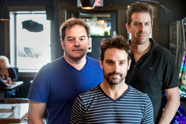 Paul Doucet, Patrice Robitaille et Guillaume Lemay-Thivierge ont... (Photo Marco Campanozzi, La Presse)