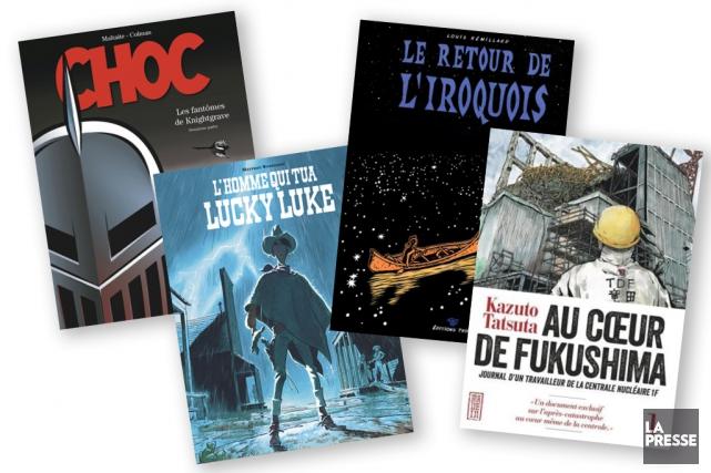 Le journaliste Nicolas Houle livre ses impressions de lecture de quatre bandes...